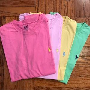 POLO RALPH LAUREN Crewneck T-Shirt Men M Pack of 4